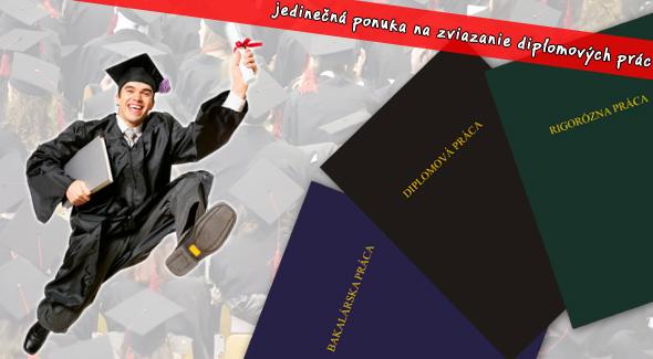Fotka zľavy: Študenti pozor! Využite jedinečnú ponuku na viazanie diplomových a bakalárskych prác už za 6,60 €. K tomu tlač 50 strán len za 1,80€.