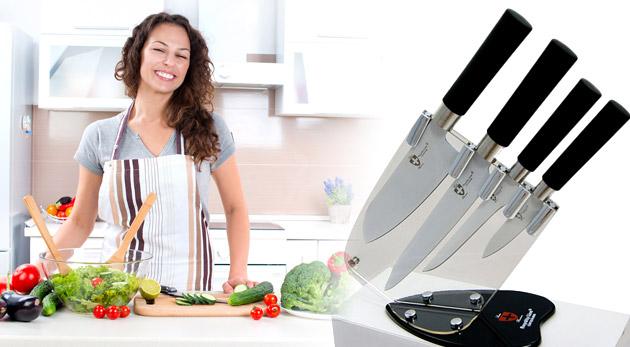 Fotka zľavy: Krájajte s ľahkosťou! Kvalitné nože s keramickým povrchom Royality Line Switzerland - praktická sada v darčekovom balení alebo v stojane už od 21,90€. Perfektne ostré nože so zľavou až 51%.