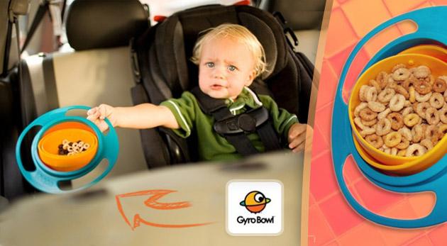 Fotka zľavy: Zázračná miska pre deti - Gyro Bowl len za 3,45€. Gyroskopická miska vyrobená špeciálne pre všetky deti, ktorá zabráni zbytočnému neporiadku v domácnosti. Osobný odber alebo zaslanie poštou.