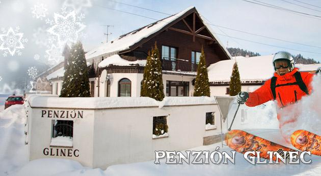 Fotka zľavy: 3 či 4-dňový zimný pobyt pre 2 osoby v penzióne GLINEC v centre kúpeľného mesta Vyšné Ružbachy neďaleko lyžiarskeho strediska už od 68€ vrátane raňajok alebo polpenzie.