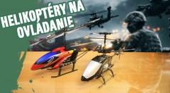Zľava 35%: RC vrtuľník na diaľkové ovládanie už od 14,90€. Helikoptéry lietajú do všetkých strán, možnosť nabíjania z ovládača, jeden z modelov má po bokoch LED osvetlenie meniace farbu.