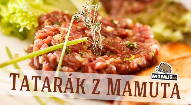 Fotka zľavy: Vynikajúci tatarák z pravej sviečkovice s topinkami pre 2 alebo 4 osoby už od 5,90€ v známom Mamut pube!