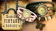 Zľava 70%: Dámske hodinky s remienkom zdobeným príveskom lístočku alebo motýlika v módnych farbách v štýle VINTAGE len za 5,99 €. Originálny a užitočný šperk pre každú dámu!