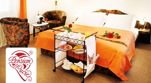 Fotka zľavy: Skvelý pobyt v Pensione Lucie**** v Prahe pre 2 osoby už od 46€ s raňajkami. Romantické chvíle v českej metropole s raňajkami do postele, súkromným wellness a fľašou sektu.