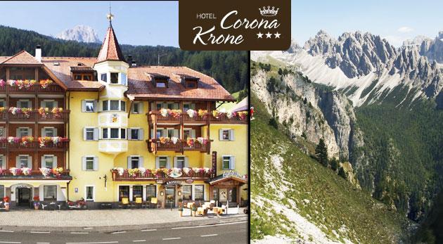 Fotka zľavy: Luxusná dovolenka v talianskych Dolomitoch už od 199€ s polpenziou, saunou a viacerými zľavami! Lukratívne ubytovanie, podmanivá príroda a úchvatné hory ako na dlani!
