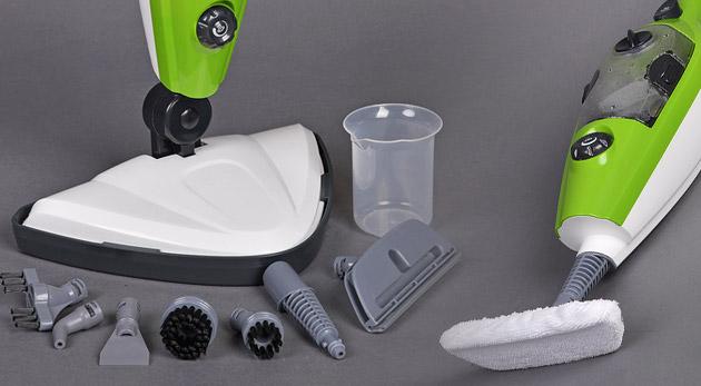 Fotka zľavy: Tešte sa z každej chvíle vášho upratovania s novým parným mopom 10 v 1 len za 49,90€! Nepoužívajte žiadne chemikálie, čistite svoju domácnosť len antibakteriálne parou. Vhodné nielen do rodín s deťmi!