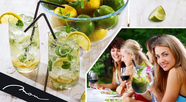 Fotka zľavy: Chladené nealkoholické home made drinky - MOU Lemonade alebo WOU Lemonade alebo ICE TEA v centre Bratislavy v Clube Mou už od 1,90€. Skvelé osvieženie počas horúcich letných dní!