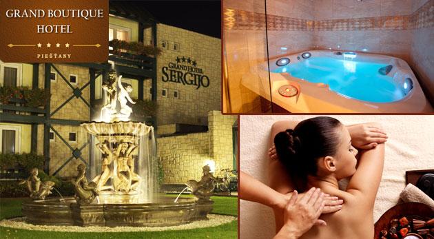 Fotka zľavy: Romantický letný pobyt na 3 dni pre dvojicu v GRAND BOUTIQUE HOTEL SERGIJO**** v Piešťanoch len za 119€. Hotel v talianskom štýle s nádherným wellnes a reštauraciou LA REINE.