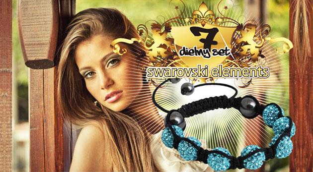 Fotka zľavy: Nežný 7-dielny set šperkov s kamienkami Swarovski Elements len za 9,99€. Dva páry náušničiek, náramok a retiazka s príveskom v šiestich trblietavých farbách.