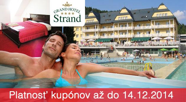 Fotka zľavy: Letná wellness dovolenka len za 89,90€ v 4* Grand Hotel Strand vo Vyšných Ružbachoch s polpenziou, vstupmi do Aqua Thermal Wellness, Vitálneho sveta, do bazénov a na kúpalisko.