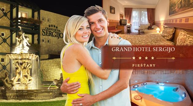 Fotka zľavy: Relaxačný pobyt pre dvojicu v 4* Grand Boutique Hotel SERGIJO v Piešťanoch len za 159€. Hotel s Wellnes centrom, letnou zónou, masážami a reštauraciou LA REINE. Platnosť až do 30.11.2014.