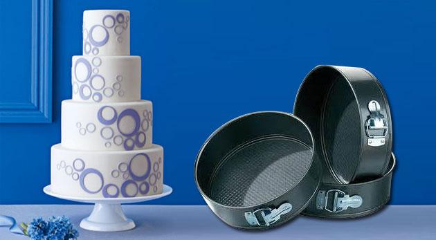 Fotka zľavy: Set tortových foriem na pečenie v tvare kruhu len za 11,99€ vrátane poštovného a balného. Skvelý tip pre každú gazdinku, ktorá chce pripravovať sladké prekvapenia!