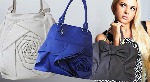 Fotka zľavy: Jedinečný módny kúsok - štýlové dámske kabelky len za 9,90€ s motívom kvetov, mašle alebo so zaujímavým farebným prevedením pre všetky dámy, ktoré vyčnievajú z radu!