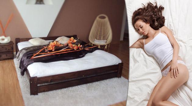 Fotka zľavy: Posteľ snov! Kvalitná drevená posteľ z masívnej borovice s matracom Ivetka, Kamila, Bonell alebo Comfort a s dreveným roštom už od 122€ vrátane poštovného a balného.