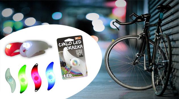 Fotka zľavy: Farebný set cyklo LED osvetlenia alebo cyklo LED odrazky len za 3,59€. Skvelé doplnky pre bezpečnú jazdu na bicykli i rôznych letných aktivitách.