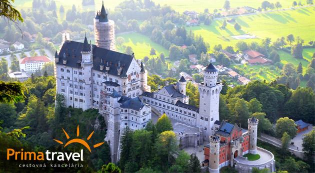 Fotka zľavy: Prežite rozprávkový víkend a obdivujte prekrásne Bavorské zámky. 2-dňový zájazd do Nemecka len za 119€ pre 1 osobu s ubytovaním, raňajkami a službami sprievodcu.