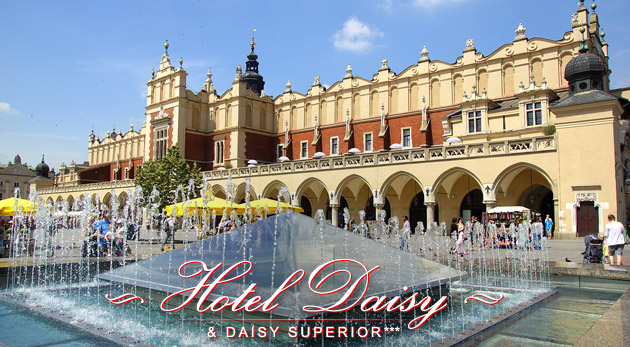 Fotka zľavy: Pestrý 3-dňový pobyt pre dvoch v Krakowe. Hotel Daisy Superior*** za 89€ s raňajkami, vstupom do bazéna i sauny a s množstvom zliav.