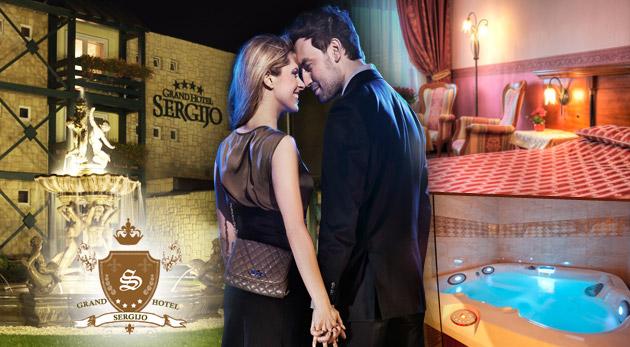 Fotka zľavy: Luxus a romantika počas 2 dní v GRAND BOUTIQUE HOTEL SERGIJO**** s vašou polovičkou len za 79€. V cene raňajky, romantická večera a privátny vstup do wellness!