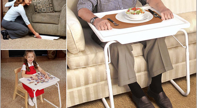 Fotka zľavy: Skladací stolík na každú príležitosť! Table Mate za 10,99€ môžete využiť pri písaní, čítaní, stravovaní i na prácu s notebookom.
