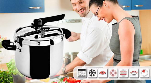 Fotka zľavy: Uľahčite si varenie a šetrite čas! Šikovný tlakový hrniec len za 18,49€. Kuchynská pomôcka pre všetky moderné a úspešné gazdinky!