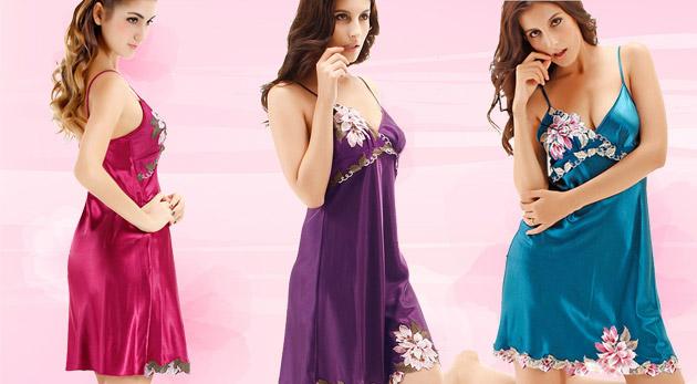 Fotka zľavy: Vzbuďte vo svojom partnerovi ešte väčšiu túžbu s lákavým oblečením - sexi dámska košieľka za 22,90€ v príťažlivej modrej, ružovej alebo fialovej farbe.