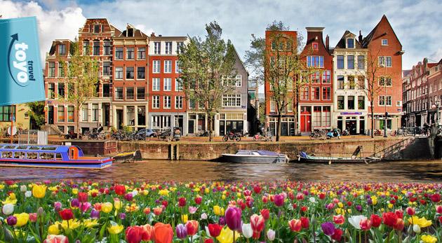 Fotka zľavy: Štyri dni medzi veternými mlynmi a tulipánmi! 4-dňový zájazd do Holandska len za 129€ na osobu s návštevou Amsterdamu a živého skanzenu vrátane ubytovania, raňajok a dopravy!