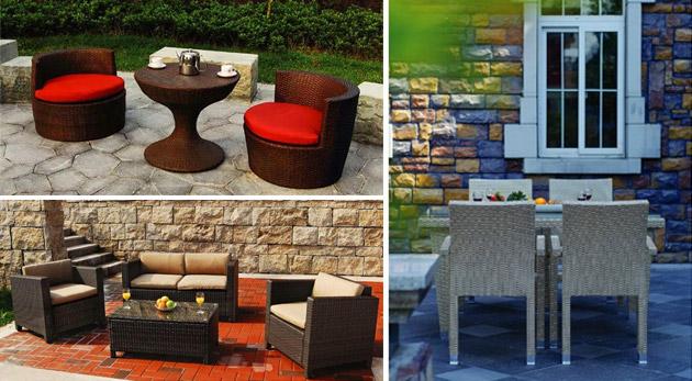 Fotka zľavy: Kvalitný a počasiu odolný set ratanového záhradného nábytku. Vyberte si obedový, čajový alebo spoločenský set už od 280€ a užite si leto na vašej záhrade!