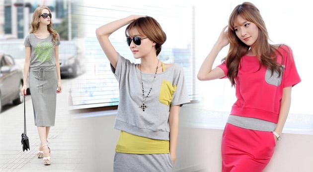 Fotka zľavy: Boom jesene - dámske teplákové šaty. Vyberte si až z troch druhov v rôznych farbách už od 13,90€ vrátane poštovného a balného. Oblečte sa maximálne pohodlne - oblečte sa maximálne in!