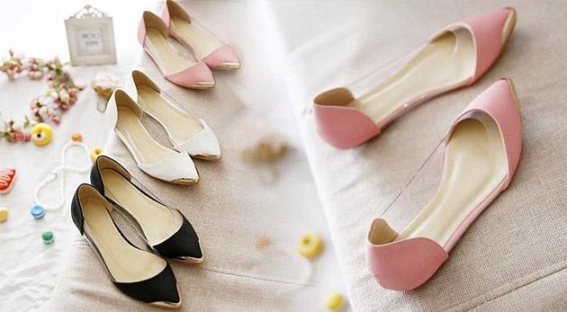 Fotka zľavy: Doplňte do zbierky vašich pohodlných topánok ďalšie balerínky, tentokrát v čiernej, bielej alebo v ružovej farbe len za 14,90€ vrátane poštovného. Tak tieto balerínky u vás určite nezapadnú prachom!