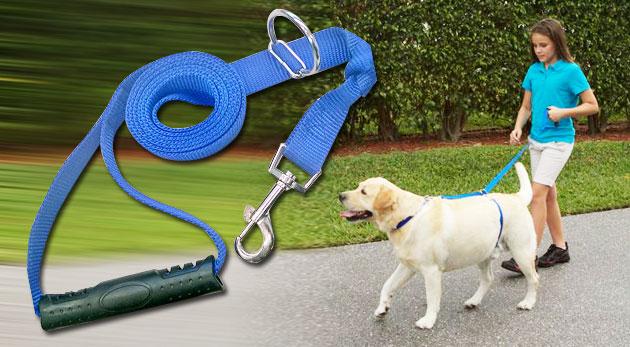 Fotka zľavy: Naučte vášho psíka dokonalej chôdzi bez ťahania a to okamžite pomocou špeciálneho vodítka za 9,99€ vrátane poštovného a balného.