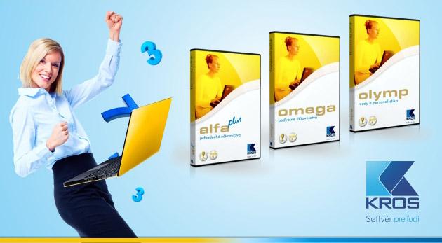 Fotka zľavy: Špeciálne balíčky od spoločnosti KROS pre jednoduché účtovníctvo - ALFA plus, podvojné účtovníctvo - OMEGA alebo mzdové účtovníctvo a personalistiku - OLYMP už od 204 € so 40 % zľavou.