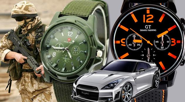 Fotka zľavy: Originálne pánske hodinky značky GT Grand Touring v troch farbách alebo Gemius ARMY v štyroch farbách už od 6,99 €. Doplňte vašu mužnú ruku o neprehliadnuteľný doplnok!