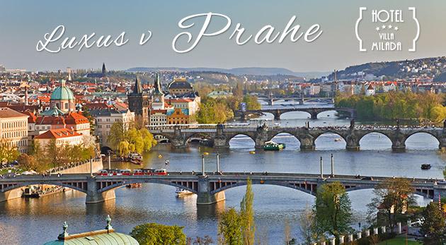Fotka zľavy: Prežite nádherné chvíle v blízkosti historického centra Prahy v Boutique hoteli Villa Milada**** s polpenziou a súkromným wellness už od 145€ pre dvojicu a načerpajte jej kúzelnú atmosféru.