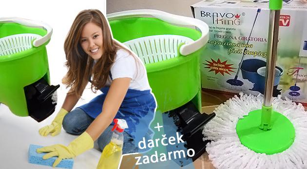 Fotka zľavy: Magic Mop 360º s náhradnou textilnou hlavicou - praktický pomocník do domácnosti len za 11,98€. Skvelý bonus navyše - kanalizačný čistič Zubor zadarmo ku každému Magic Mopu!