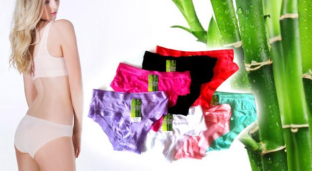 Fotka zľavy: Dámske nohavičky vyrobené z kvalitného bambusového vlákna len za 5,90€ vrátane poštovného a balného. Pohodlnosť na správnom mieste!