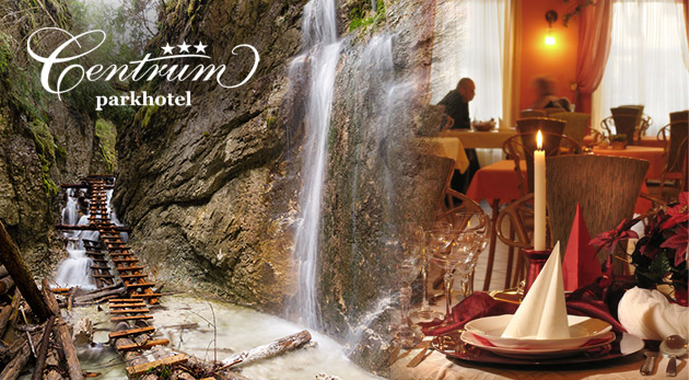 Fotka zľavy: Pobyt pre pár v Parkhoteli Centrum*** v centre Spišskej Novej Vsi už od 65€ s raňajkami, fitness a soláriom. Slovenský raj - hučiace vodopády, úzke rokliny i mnoho rebríkov a turistických chodníkov.