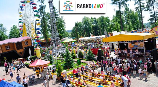 Fotka zľavy: Prežite nezabudnuteľný deň v Rabkolande, kde na vás čaká až 34 atrakcií! Vy si teraz môžete užiť 10 z nich len za 4,99€! Zábavný park Rabkoland vás a vaše deti určite zabaví.