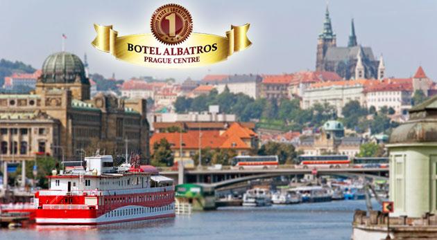 Fotka zľavy: Nechajte sa húpať pokojnými vlnami Vltavy priamo v srdci Prahy v Boteli Albatros*** s raňajkami, bohatou večerou a fľašou vína len za 89€ pre dvojicu.
