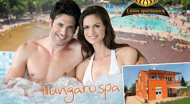 Fotka zľavy: Zaslúžený oddych v apartmánoch neďaleko liečivých termálnych kúpeľov Hungarospa v Hajdúszoboszló pre dvojicu len za 69€ s raňajkami a welcome drinkom.