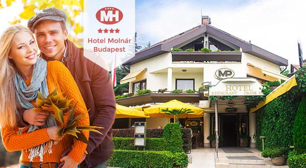 Fotka zľavy: Oáza pokoja a zelene v 4* Hoteli Molnár v Budapešti už od 99€ s raňajkami, prehliadkou mesta, plavbou po Dunaji, relaxom v kúpeľoch, saunou a fitness. Deti do 6 rokov zadarmo!