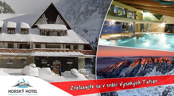 Fotka zľavy: 3 dni na Popradskom Plese len za 34,50€. Horský hotel* Popradské Pleso - ubytovanie, polpenzia, infrasauna, horúca kaďa, transfer zo Štrbského Plesa + zľava na celodenný vstup do Aquacity v Poprade.