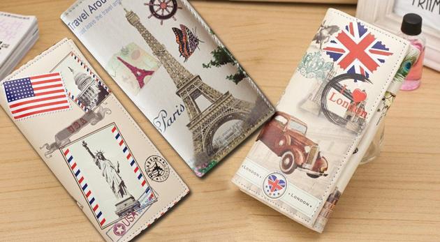 Fotka zľavy: Krásna dámska peňaženka so štýlovým retro motívom len za 7,90€. Buďte IN aj v detailoch!