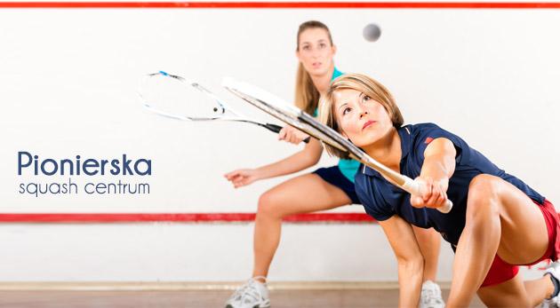 Fotka zľavy: Jedinečná hra squash už od 4,40€ na hodinu vrátane 2 iontových nápojov! Značkové klimatizované kurty, možnosť zapožičania rakety aj loptičky.