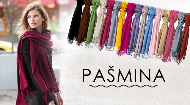 Fotka zľavy: Úžasná kašmírová šatka - pašmína v 36 farbách so vzorom i bez vzoru pre dokonalosť vášho outfitu len za 5,39€. Možnosť osobného odberu v Bratislave.