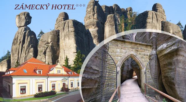 Fotka zľavy: Ubytovanie na 1 noc s polpenziou pre dvoch na Zámeckom hoteli*** len za 39 € neďaleko fascinujúcich Adršpašsko-teplických skál. Dĺžku pobytu si určíte sami a každú siedmu noc máte zadarmo!