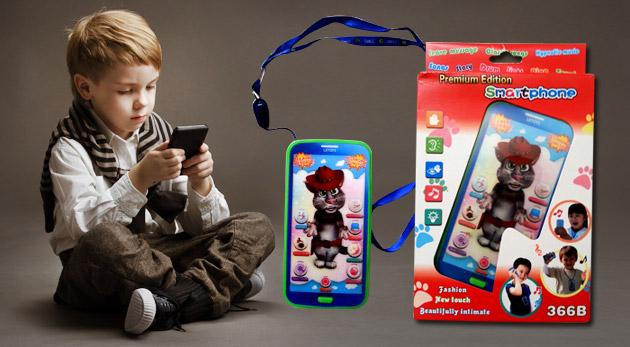Fotka zľavy: Naučte svoje deti angličtinu hravou formou vďaka mobilnému telefónu Talking Tom len za 5,50 €. Ponúka pesničky, rozprávky aj uspávanky v angličtine.