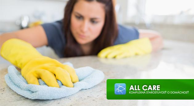 Zľava  Kompletné upratovanie s firmou Allcare