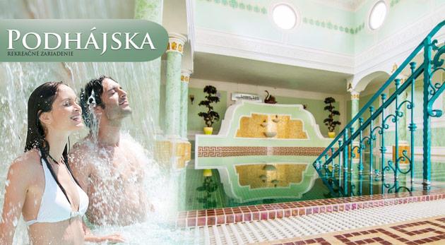 Fotka zľavy: Oddych pri slovenskom Mŕtvom mori v Drevenici - Zrube v Podhájskej na 4 alebo 7 dní už od 65 €. Na výber i rodinné kupóny. Užite si liečivú slanú vodu termálneho kúpaliska! Dieťa do 3 rokov zadarmo.