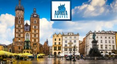 Zľava 34%: Spoznajte krásy historického Krakova a najväčšiu soľnú baňu v Európe - Wieliczku počas 2 dní len za 79 € s CK Adria Travel s dopravou luxusným autobusom, ubytovaním a raňajkami.