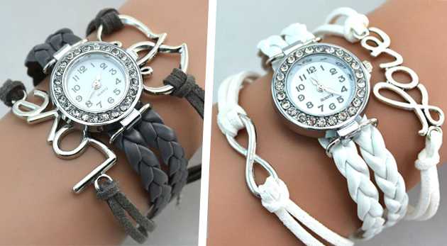 Fotka zľavy: Unikátne vintage hodinky a šperk v jednom len za 6,99 €. Vyberte si až z 10 druhov rôznych farieb, s rôznymi ozdobami či príveskami.